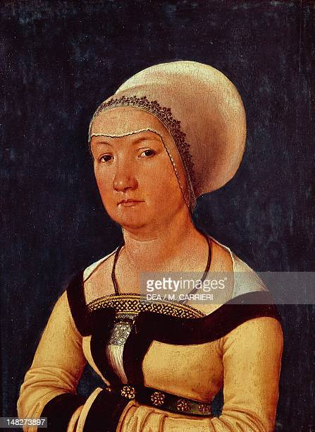 Portrait of a 34 year old woman 15161517 by Hans Holbein the Elder tempera on panel Basel Kunstmuseum