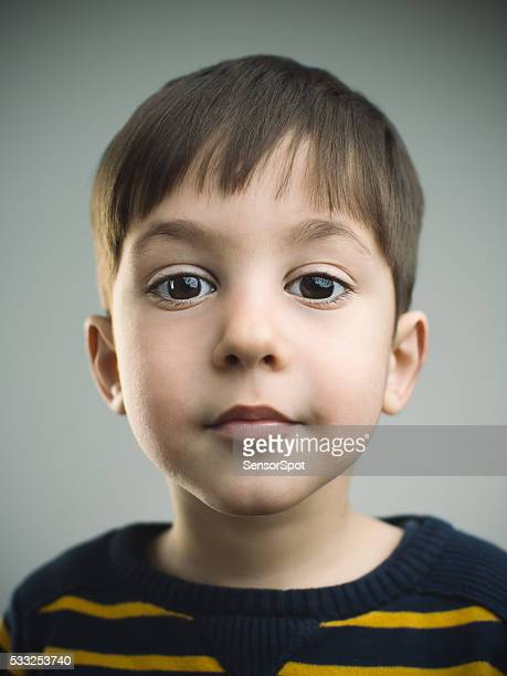 portrait of a 4 years old boy with happy expression - 4 5 years photos stock pictures, royalty-free photos & images