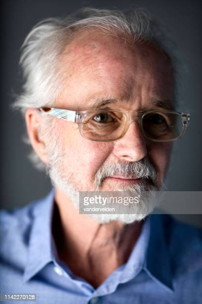 portrait of a 70-year-old man - 70 year old man stock pictures, royalty-free photos & images