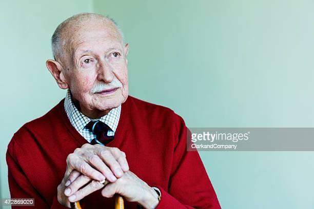 Porträt von eine 90-jährige Mann