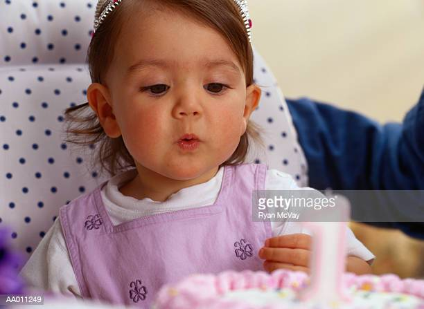 Portrait of a Baby Celebrating Her First Birthday