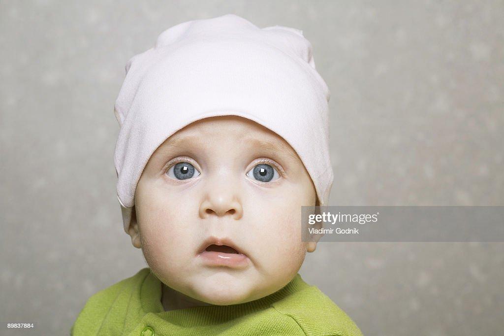Portrait of a baby girl : Foto de stock