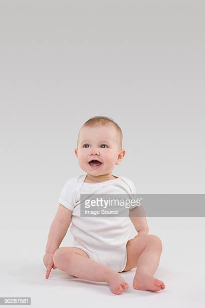 portrait of a baby - カバーオール ストックフォトと画像