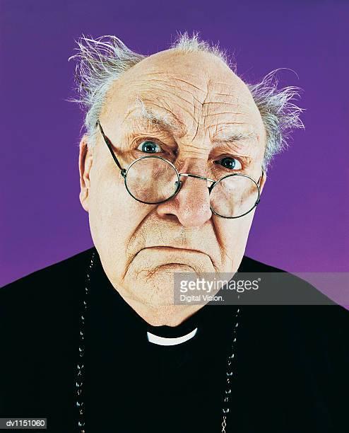 Portrait of a Balding Priest in a Habit