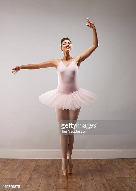 portrait of a ballet dancer - ballet dancer stock pictures, royalty-free photos & images