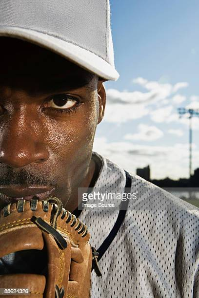 Portrait of a baseball pitcher