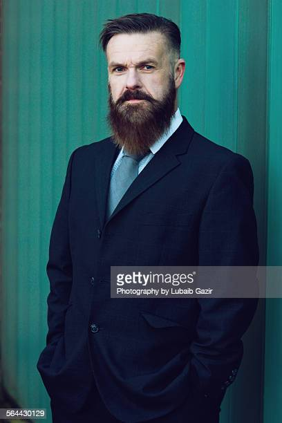 Portrait of a bearded businessman