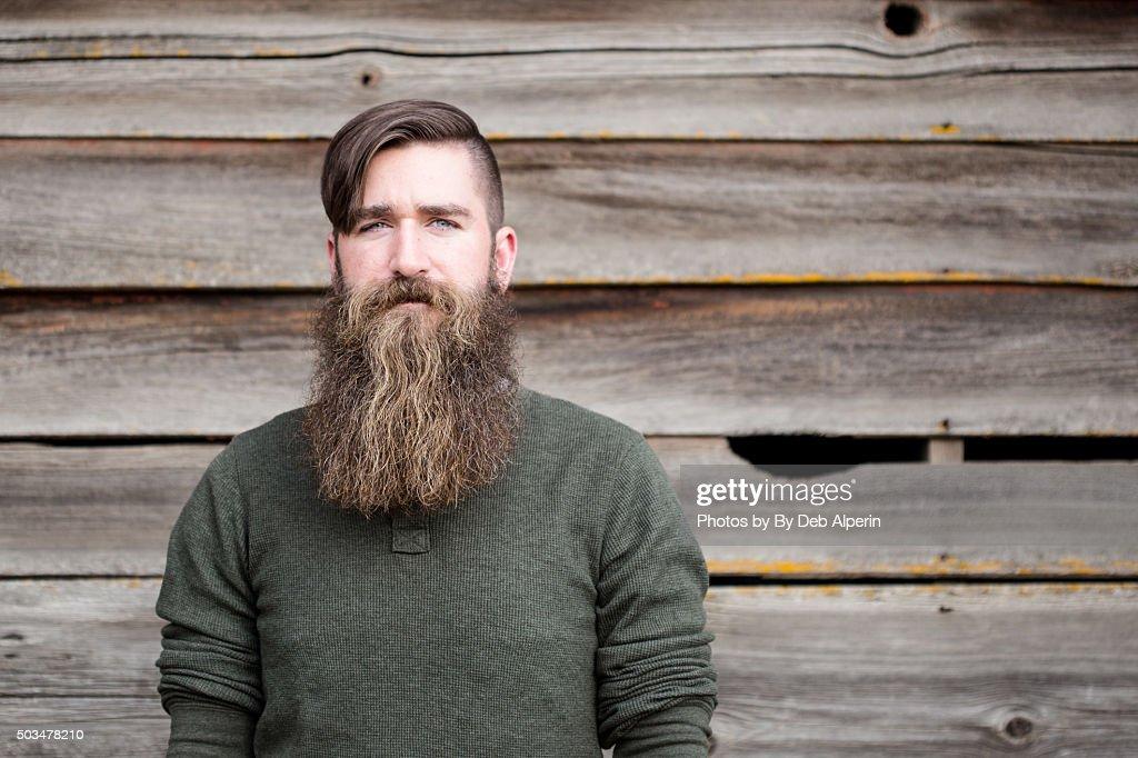 Portrait of a bearded man : Stock Photo