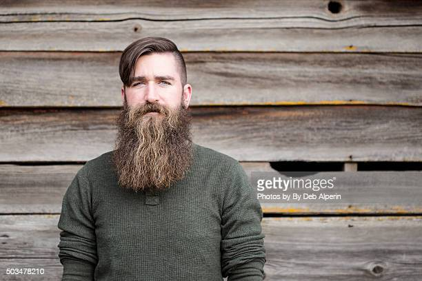 portrait of a bearded man - beard stock pictures, royalty-free photos & images