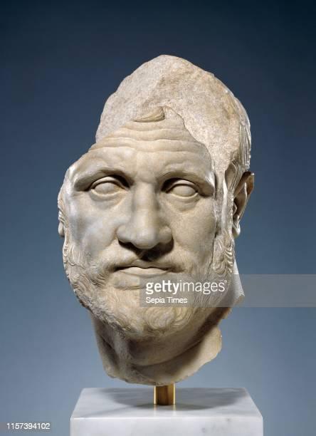 Portrait of a Bearded Man. Unknown. Pergamon. Asia Minor. 160 - 150 B.C. Marble. Object: H: 40.7 x W: 25 x D: 31.7 cm .