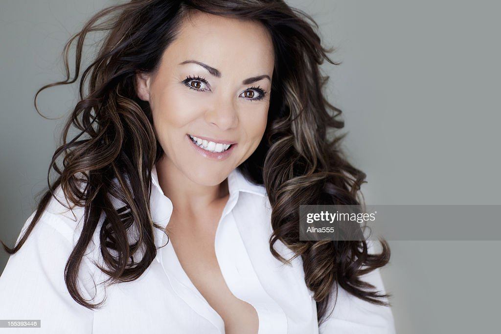 Portrait Of A Beautiful 40year Old Woman Stock Photo Getty Images