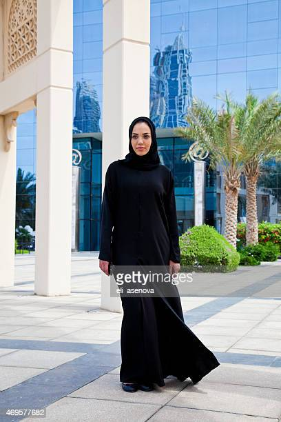 Portrait of a Beautiful Arabian Woman in Dubai.