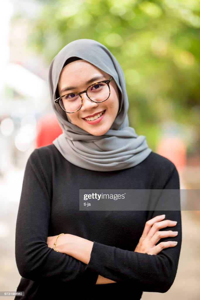 Portrait Of A Beautiful Asian Girl Wearing Hijab Stock Photo  Getty Images-5613