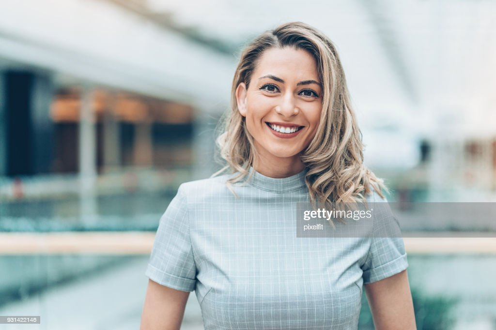 Portrait of a beautiful businesswoman : Stock Photo