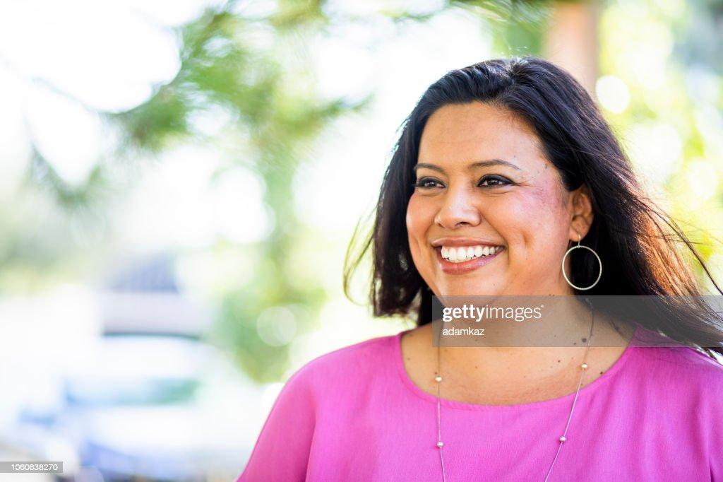 Porträt einer schönen Hispanic Frau : Stock-Foto