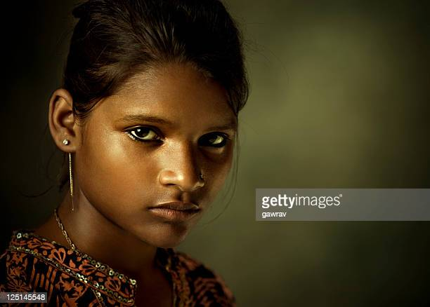 Portrait of a beautiful Indian young woman looking at camera