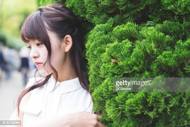 美しい日本の女の子の肖像画