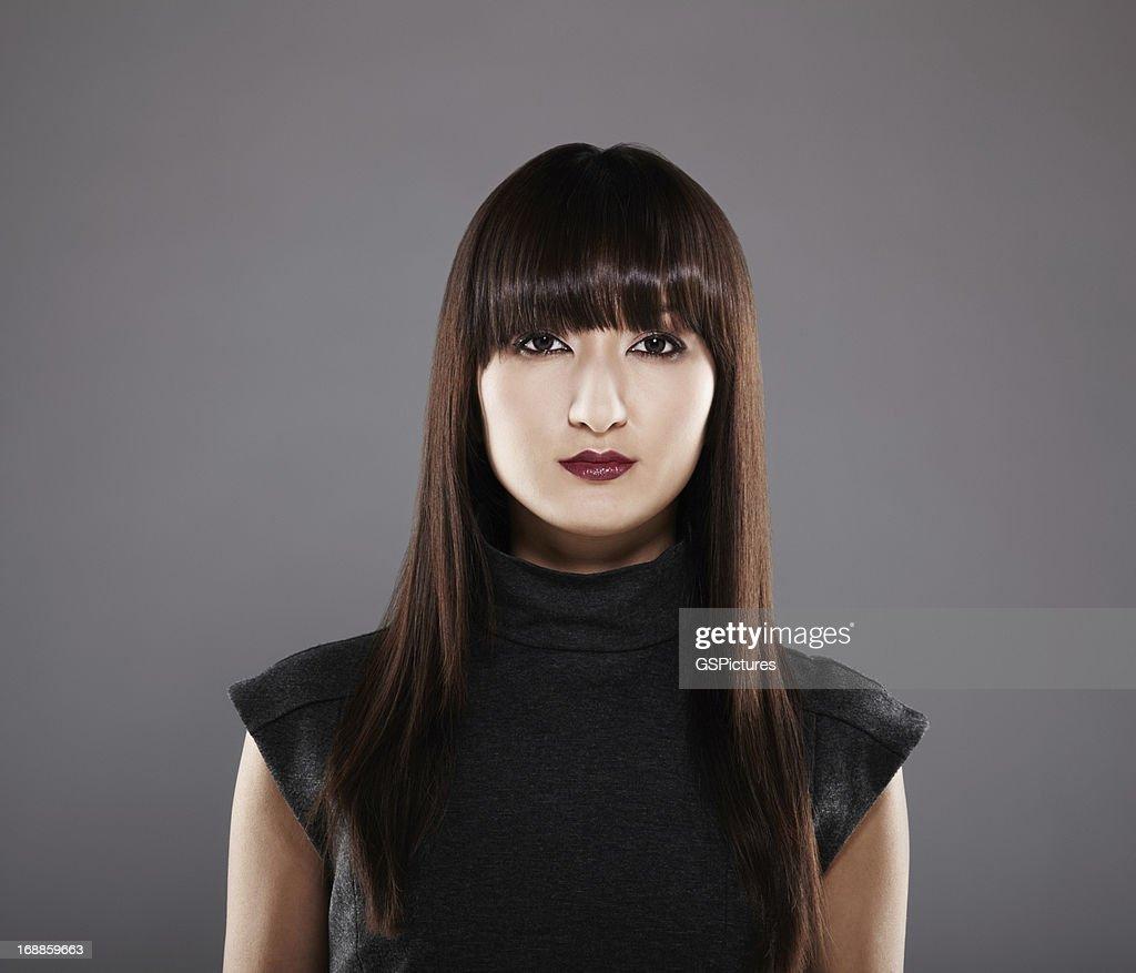 Portrait of a beautiful Japanese woman : Stock Photo