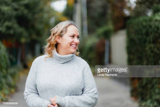 portrait of a beautiful - fat blonde women stock photos and pictures