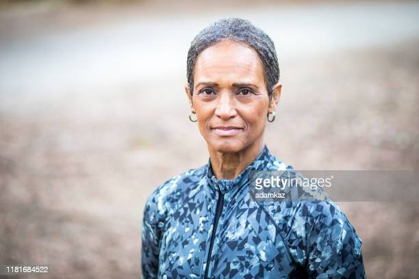 portrait of a beautiful senior black woman - white hair stock pictures, royalty-free photos & images