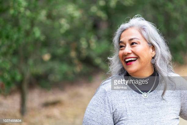 Portrait of a beautiful senior Mexican Woman