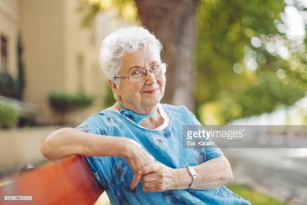Porträt einer schöne senior Frau