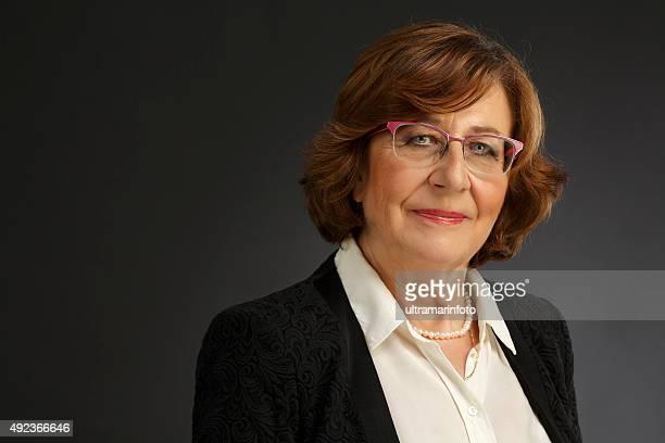 Portrait of a beautiful senior woman  Vital businesswoman