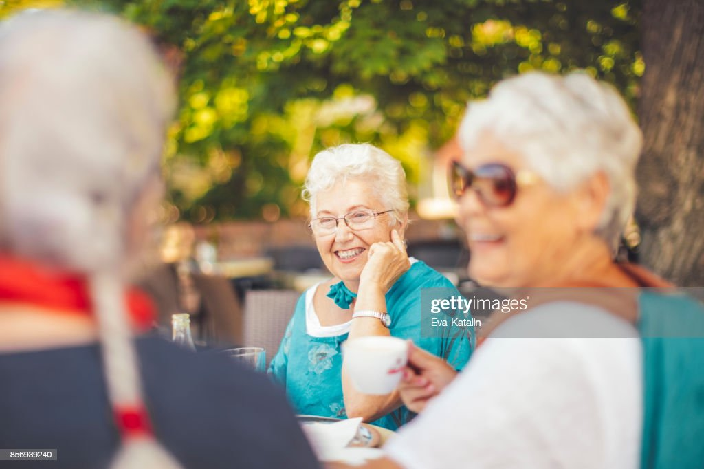 Beautiful senior women