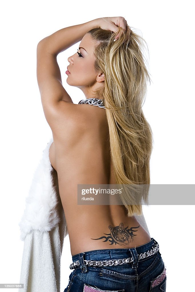 Portrait Of A Beautiful Sexy Girl Smiling Stock Photo