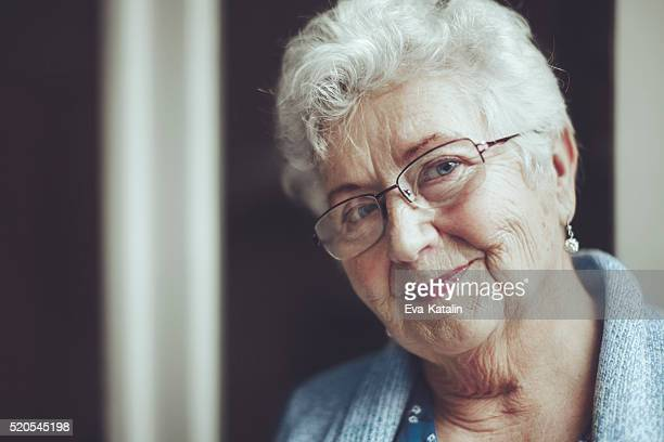 Portrait of a beautiful smiling senior woman