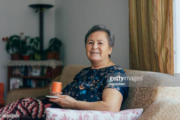 portrait of a beautiful smiling senior woman - turkey middle east stock pictures, royalty-free photos & images