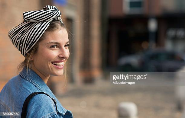 portrait of a beautiful smiling woman. - freckle stock photos and pictures