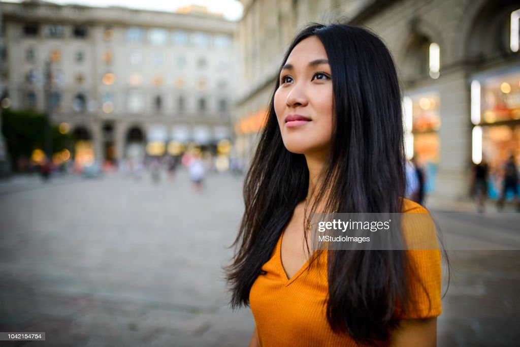 Portrait of a beautiful woman. : Stock Photo
