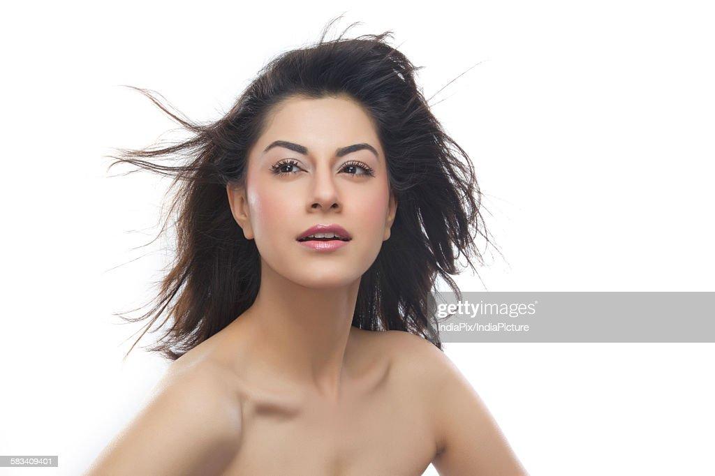 Portrait of a beautiful woman : Stock Photo