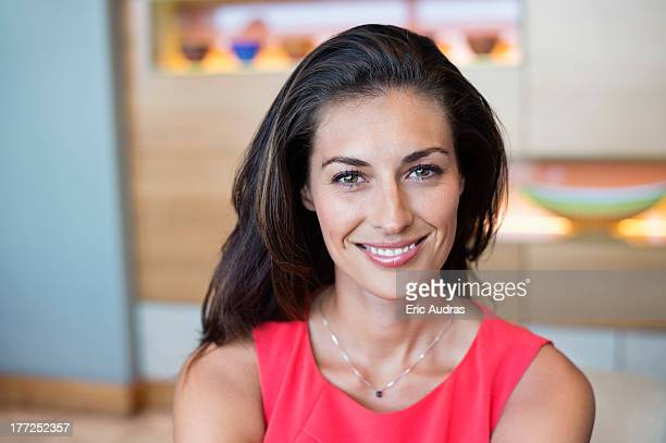 Portrait of a beautiful woman smiling