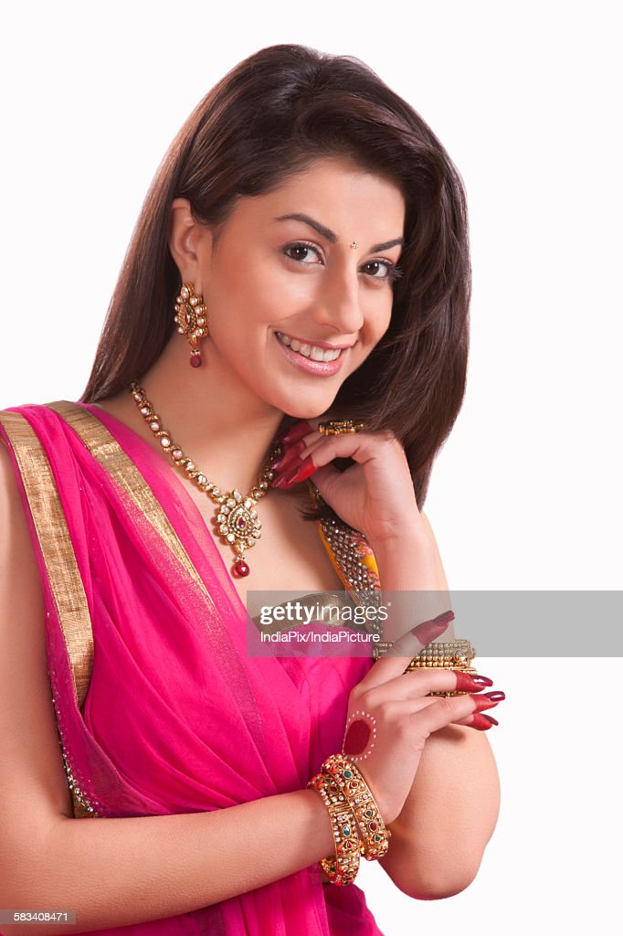 Portrait of a beautiful woman smiling : Stock Photo