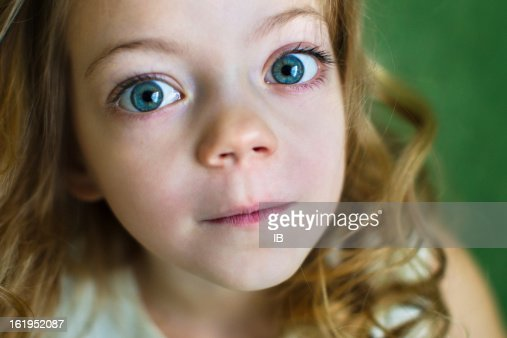 Portrait Of A Beautiful Young Girl With Huge Blue Eyes -3020