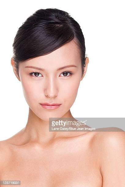 portrait of a beautiful young woman - beautiful chinese girls stock photos and pictures