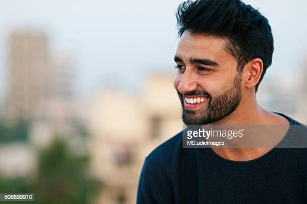 portrait of a beautifull smiling man - indian stock pictures, royalty-free photos & images