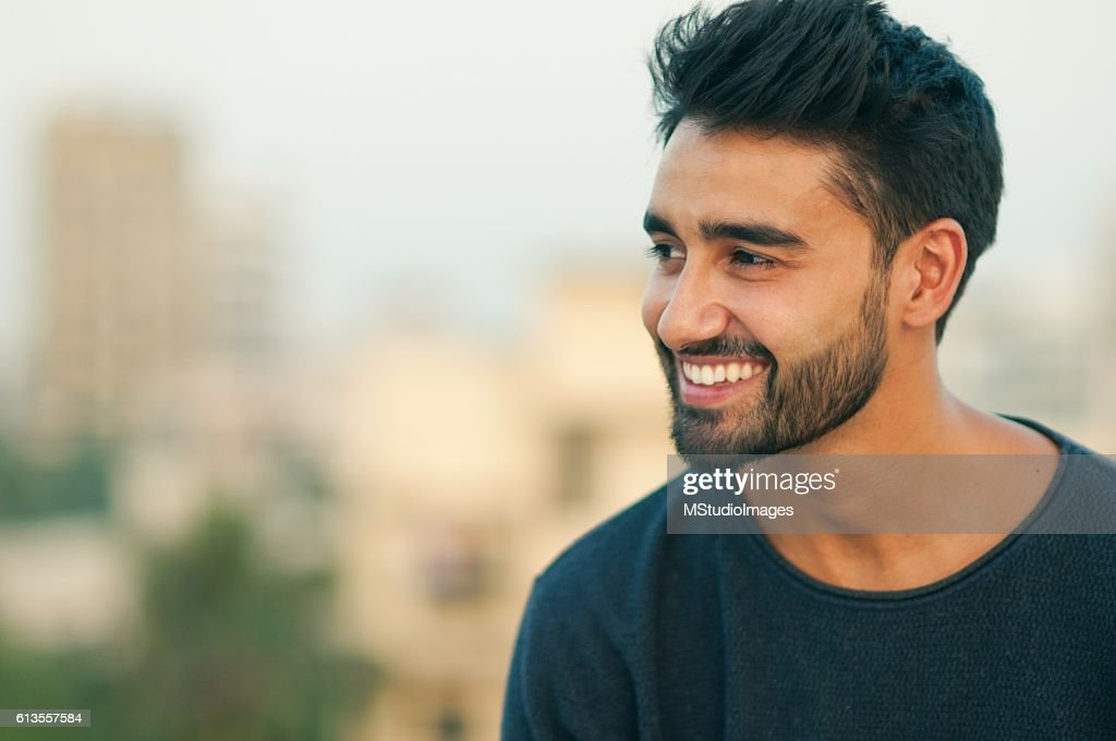 Portrait of a beautifull smiling man. : Stock Photo