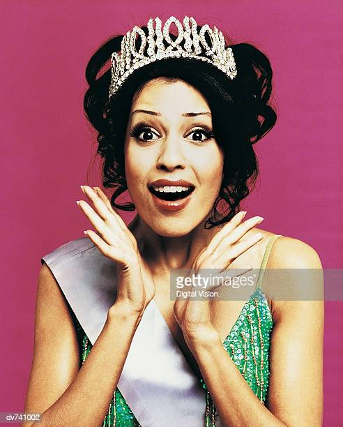 portrait of a beauty queen - beauty queen stock pictures, royalty-free photos & images