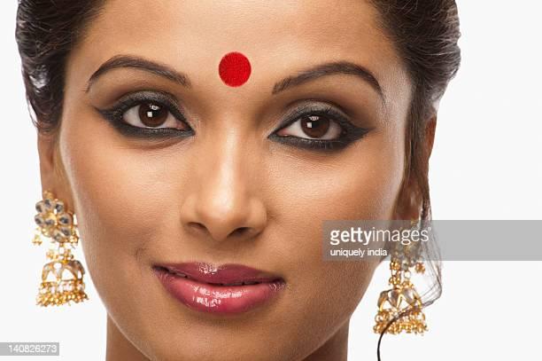 Portrait of a Bengali woman smiling