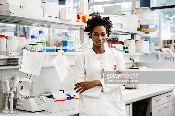 Portrait of a black female scientist