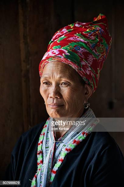 Portrait of a Black Hmong tribe woman near Sapa