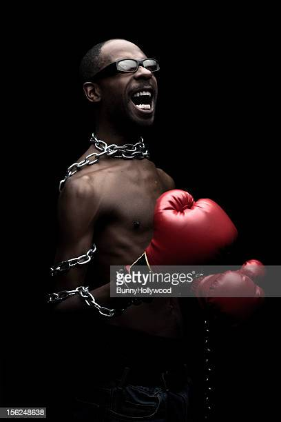 Portrait of a Black Man in Chains
