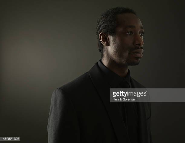 Portrait of a black man on a dark background