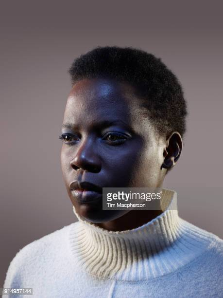 portrait of a black woman - looking away stock pictures, royalty-free photos & images