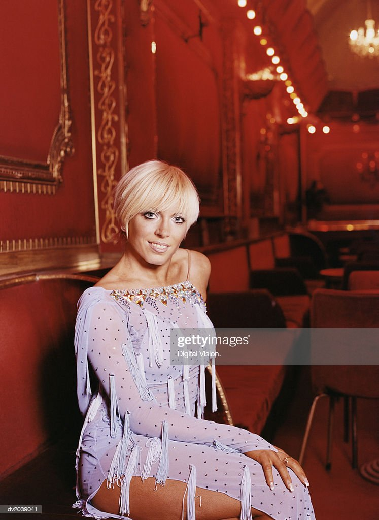 Portrait of a Blond Ballroom Dancer : Stock Photo