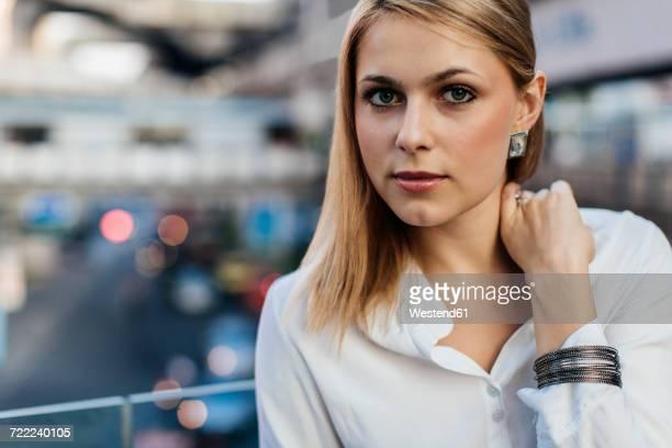 Portrait of a blond businesswoman