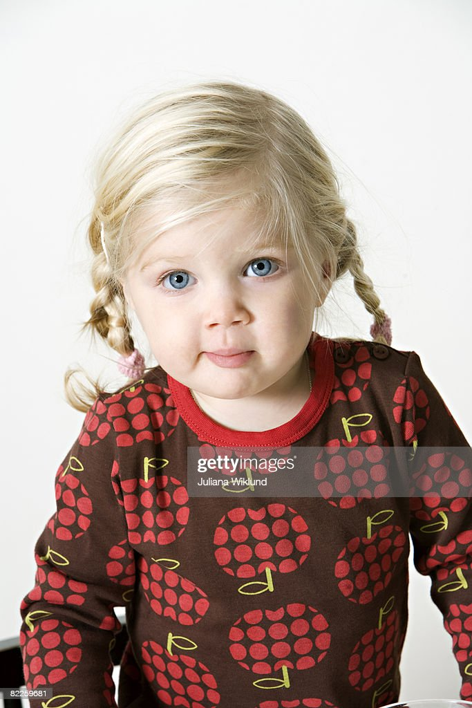 Portrait of a blond girl Sweden. : Stock Photo